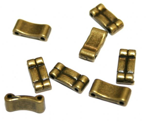 20pcs X Antique brass double section for elastic 11mm – S.F05 – WA181 - 1411066